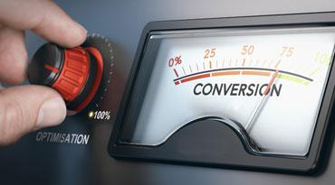 Le taux de conversion du site internet